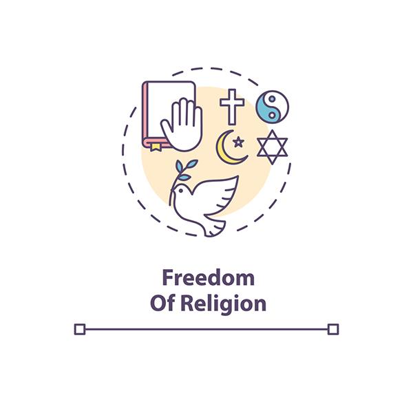 Freedom of religion symbols